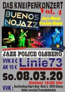 8.März.2020-Jazz Dämmerschoppen - Buenos NoJazz & Jazz Police