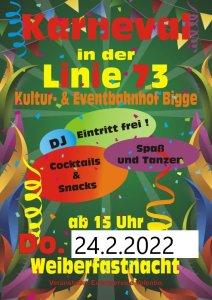 20. Feb. 2020 Weiberkarneval ab 15.00 Uhr Eintrit Frei !