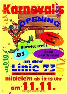 11.11. Karneval opening - Eintritt Frei