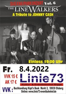 9.April 2021 Jonny Cash  A Tribute to Johnny Cash -- The LineWalkers –