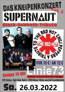 28.März 2020 Black Sabbath / Red Hot Chilli Peppers -Tribute-