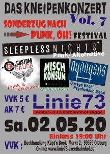 2.Mai 2020 Festival Sonderzug nach Punk´OH