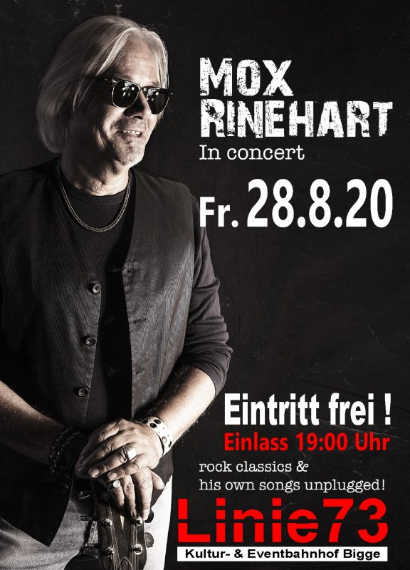 28.Aug.20 Mox Rinehart Rock Classic unplugged/ Eintritt Frei