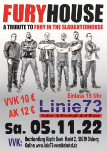 28. Nov. 2020 FuryHouse a tribute to Fury in the Slaughterhouse